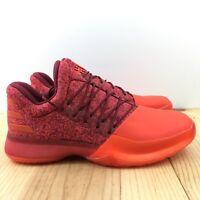 Adidas Harden Vol. 1 Size 10.5 Basketball Shoes Red Glare Orange