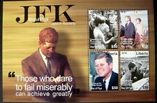 2009 MNH LIBERIA JOHN F. KENNEDY STAMPS SHEET OF 4 JFK STAMPS BAY OF PIGS JACKIE