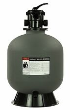"""Rx Clear Radiant 24"""" Inch In-Ground Swimming Pool Sand Filter w/ 6-Way Valve"""