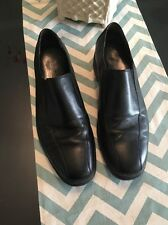 Cole Haan Nike Air Men's Black Leather Slip On Casual Shoes US Size 9.5 M