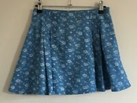 Parisian Collection Size 6 Ladies Casual Blue Skirt With White Floral Print