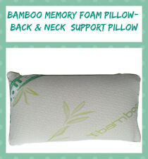 Luxury Hypoallergic Extra Filled Bamboo Memory Foam Pillow- Neck & Back Support