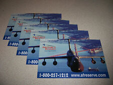 AIR FORCE RESERVE C-5 GALAXY AIRLIFT PLANE POSTCARD LOT