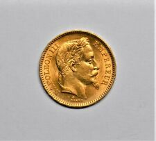 New Listing1864 France 20 Francs Gold Coin Napoleon Iii Brilliant Uncirculated