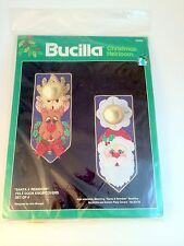 Bucilla Santa & Reindeer Christmas Heirloom Felt Door Knob Covers Set of 4 NIP