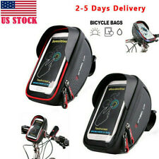 "Waterproof Bike Bicycle 6"" Mount Phone Holder Case Bag Pouch Cover for Mobiles"