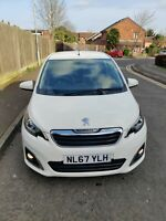 Peugeot 108   2017  Plate 1.2, 5 doors, low milage, Looks  impeccable