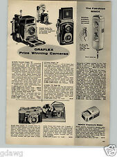 1956 PAPER AD Graflex Pacemaker Graphic 45 Crown Speed Minox Camera Cameras