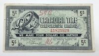 1962 Canadian Tire Money 5 Five Cents CTC-6-A Circulated Mor Power Gas E157