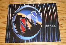 Original 1992 Buick Full Line Sales Brochure 92 Park Avenue Regal LeSabre