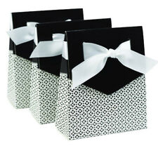 NEW HBH Black & White Tent Favor Boxes 25 pc.