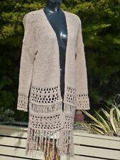 Laura Scott Long Tassel Cardigan Jacket Coat Size 10/12 UK New with Tags Winter