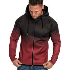Mens Fitness Hoodie Sport Hooded Jacket Shirts Gym Workout Top Casual Coat