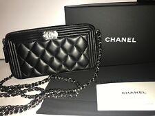 CHANEL Boy Chanel Wallet On Chain Mini Pouch Clutch Bag BRAND NEW 100% GENUINE