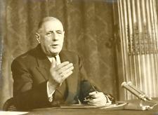 Le général De Gaulle Vintage silver print Tirage argentique  13x18  Circa