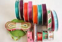 Lot Fabric Craft Sewing Project Trim Ribbon Christmas Holiday Ribbon