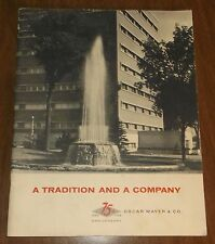 Vintage 1958 Osar Meyer & Co. 75th Anniversary Company Book - Hot Dogs History