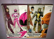 Power Rangers LIGHTNING COLLECTION PINK RANGER & GOLD RANGER  **NEW**