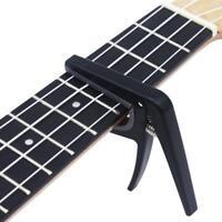 Ukulele Capo Trigger Clamp Quick Change For Guitar Banjo Ukulele Mandolin Black