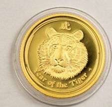 2010 The year of the Tiger PROOF 1/10 Oz Gold Australia 15$ Lunar 2