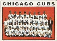1964 Topps - RARE WRONG BACK - # 237 - CHICAGO CUBS TEAM CARD - NRMT+