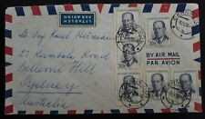 1958 Czechoslovakia Airmail Cover ties 6 stamps canc Cerny Dul to Australia