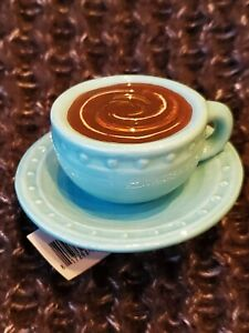 Nora Fleming mini (RETIRED) - A209 Warm Me Up Coffee Cup and Saucer Mug
