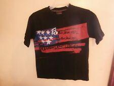 OG VTG 90S FUBU BLACK EMBROIDERED T SHIRT 1992 HIP HOP NY BOYS MED 12/14