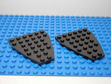 LEGOS  2 Wedge Plate 7 x 6  no Stud Notches ( Boat Bow Plate ) Black  Star Wars