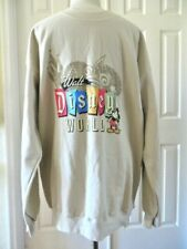 Walt Disney Souvenir's Men Pullover Sweater Warm LOGO Beige Size L NEW