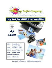 A3 Inkjet OHP Transparency Acetate Film 135 micron 10 SHEETS