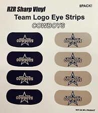 8x NFL Dallas Cowboys eye strips Vinyl Decal Game Face stickers