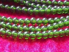Glasperlen Grün 4 mm ca. 80 Stck Perlen Schmuck Basteln 18Y