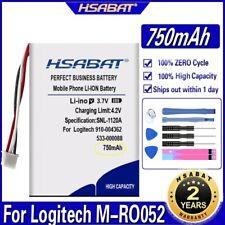 HSABAT 533-000088 910-004362 Battery 750mAh 910-004374 AHB303450 for Logitech