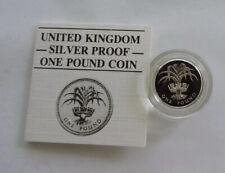 1984 Silver Proof £1 Welsh Leek In Capsule With COA