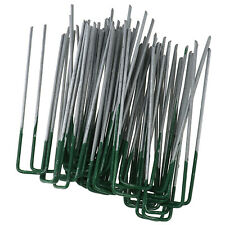 50PCS U Shape Pegs Staples Artificial Grass Turf Pins Galvanised iron Accessory