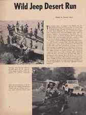1953 5TH ANNUAL JEEP CAVALADE  ~  CLASSIC ORIGINAL 2-PAGE ARTICLE / AD