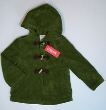 NWT Gymboree Fall Forest XS(3/3T-4/4T) Green Cut Corduroy Hooded Toggle Coat