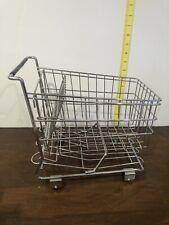 Mini Chrome Shopping cart basket Metal Decoration home decor