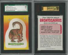 1988 Topps, Dinosaurs Attack! Stickers, #4 Brontosaurus, Sgc 96 Mint