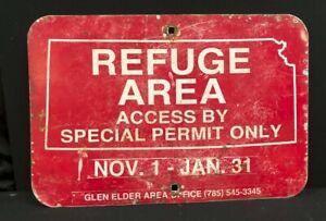 "Kansas Game & Fish Refuge Area Access Metal Sign 12"" x 18"" Hunting Outdoors"
