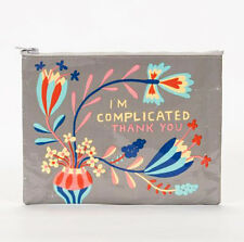Blue Q I'm Complicated Zipper Pouch  Recycled
