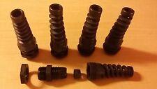 Lot de 5 presse étoupe étanche PG11  avec guide câble pour câble de 5 à 10mm, CE