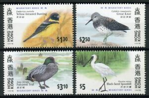 Hong Kong 1997 MNH Migratory Birds Teal Spoonbill 4v Set Ducks Birds Stamps