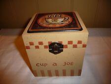 Crazy Mountian Ceramic Resin Coasters Set /Coffee Cup a Joe~Box Coaster Set