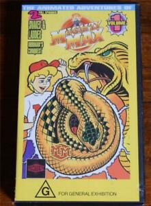 1994 Video Tape Mighty Max: 2 Episodes Snakes & Ladders Norman's Conquest VHS