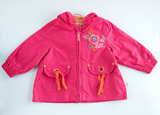 Chaqueta parka de niña rosa fucsia de BOBOLI con capucha (talla 3 meses)