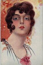 Illustratore Italiano Donnina PC ITALY Circa 1918