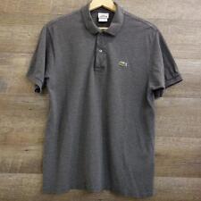 Lacoste Men's Polo shirt Short Sleeve Gray Cotton Size 4(M)