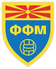 "Macedonia ФФМ Mazedonien National Football Association sticker decal 4"" x 4"""